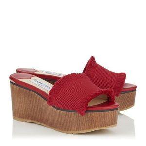 Jimmy Choo platform wedge Sandal